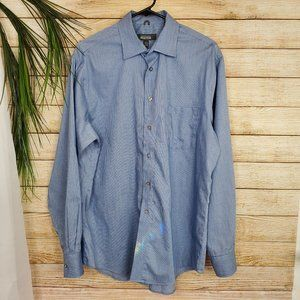 Kenneth Cole Reaction Blue Button Up Long Sleeve